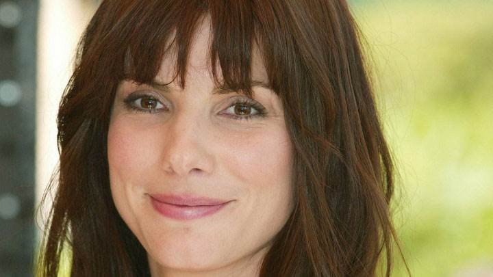 Sandra Bullock Smiling Pink Lips Cute Face Closeup